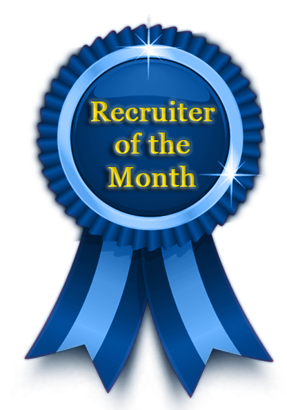 recruiter of the month award continental search